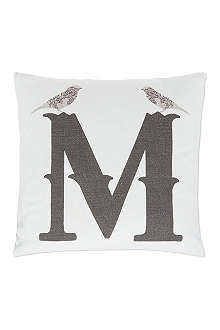 ANNIE LITTLE M monogram cushion