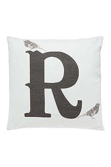ANNIE LITTLE R monogram cushion
