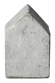 BLOOMINGVILLE Concrete medium house ornament