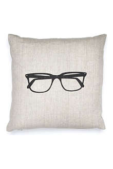 ACACIA DESIGNS Glasses linen cushion