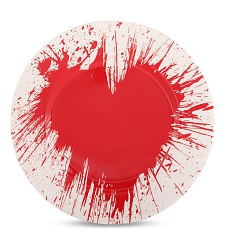 1882 Mr. brainwash fragile hearts china plate 20cm