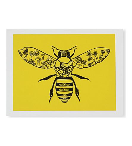 EAST END PRINTS Metallic bee print