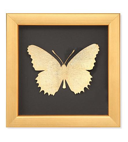 BOMBUS Mini gold butterfly black frame