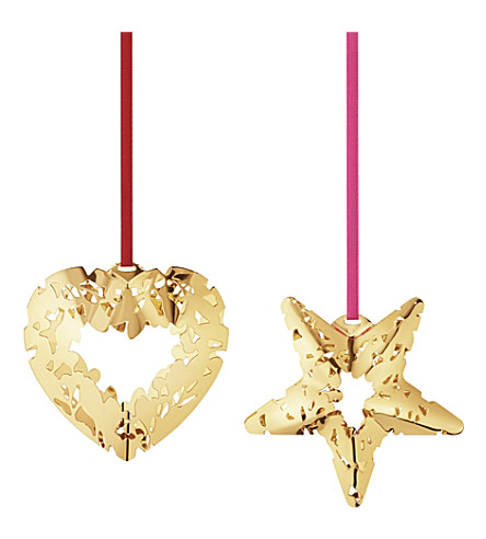 georg jensen christmas collectables gold plated heart. Black Bedroom Furniture Sets. Home Design Ideas