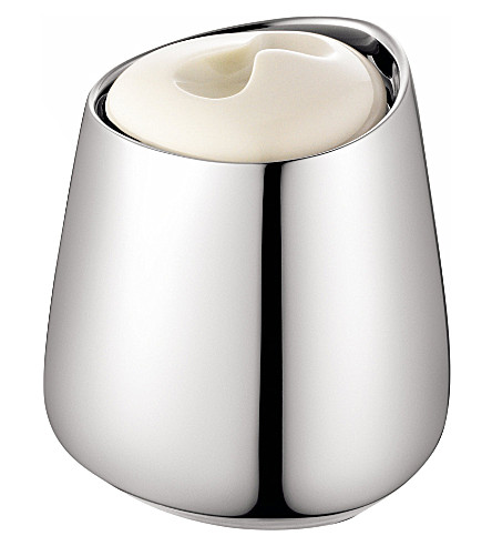 GEORG JENSEN Helena stainless steel and porcelain tea tin