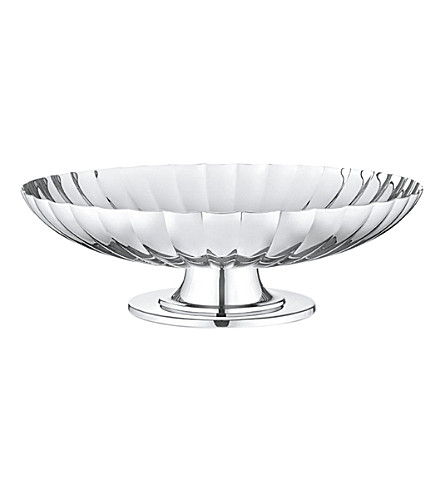 GEORG JENSEN Bernadotte stainless steel dish on stand