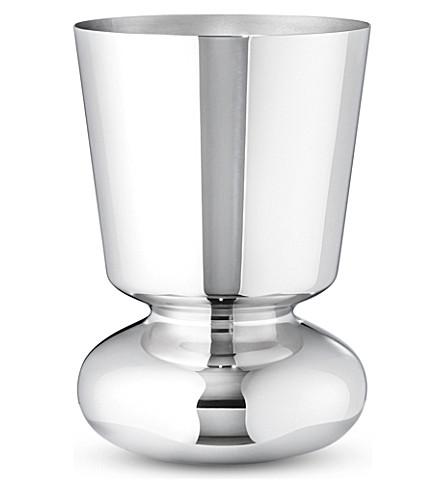 GEORG JENSEN Alfredo stainless steel vase