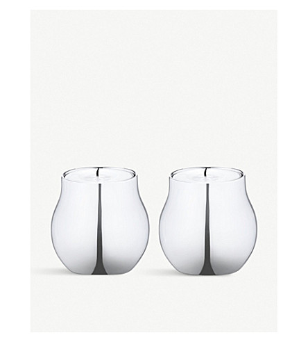 GEORG JENSEN Cafu stainless steel tealight holders