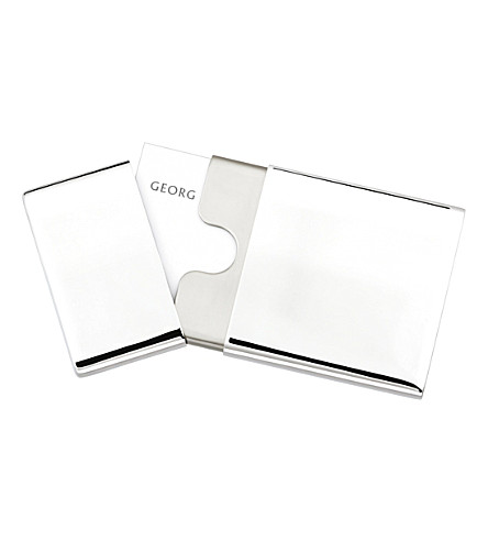 GEORG JENSEN Stainless steel business card holder to go