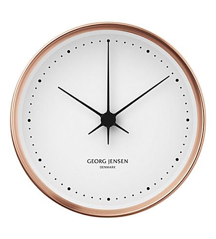 GEORG JENSEN Koppel copper clock 10cm