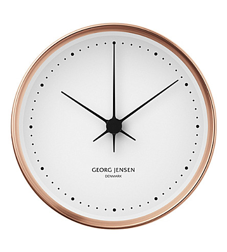 GEORG JENSEN Henning Koppel copper clock 22cm