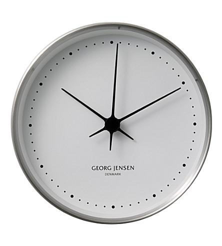 GEORG JENSEN Koppel stainless steel clock 15cm