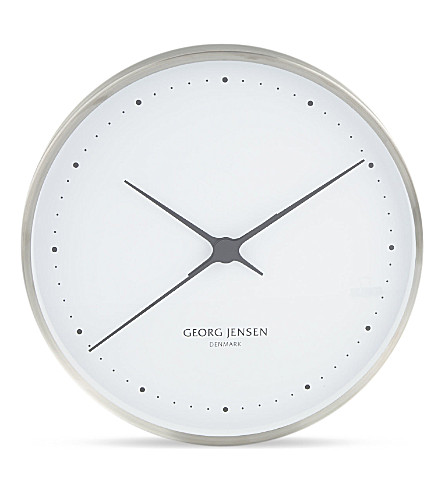 GEORG JENSEN Stainless steel wall clock