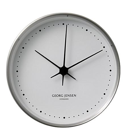 GEORG JENSEN Koppel stainless steel clock 10cm
