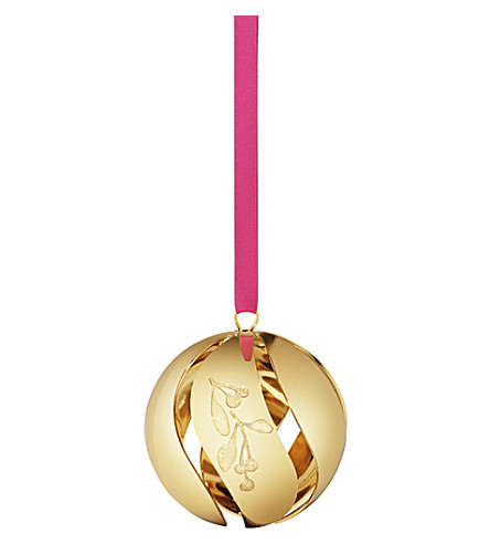 georg jensen christmas collectibles gold plated ball. Black Bedroom Furniture Sets. Home Design Ideas
