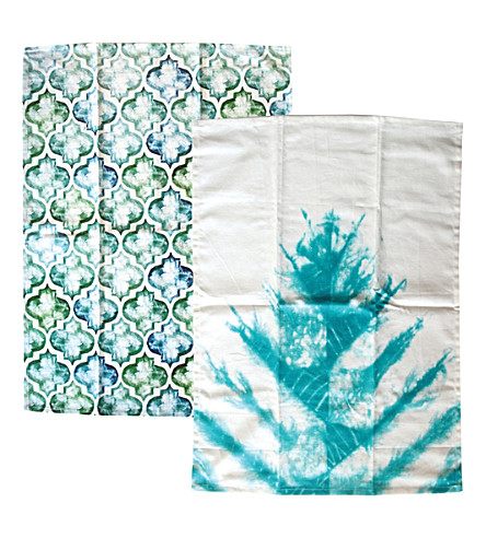 URBAN NATURE CULTURE Turquoise tea towels set of 2