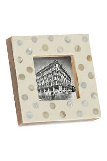 Ivory pearl photo frame 2x2