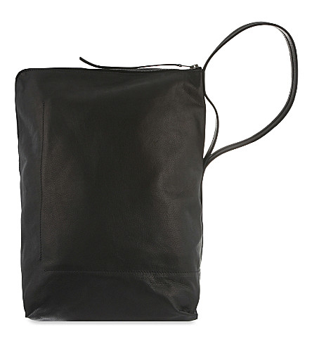 RICK OWENS Leather bucket bag (Black