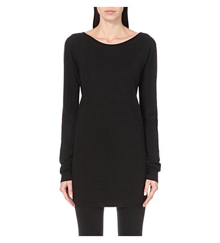 RICK OWENS Long-sleeved wool jumper (Black