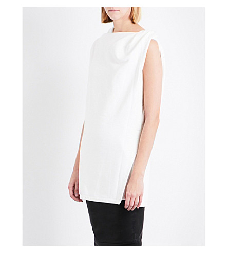 DRKSHDW Double-layer sleeveless cotton top (Milk