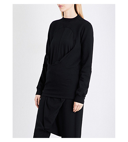 DRKSHDW Oversized cotton-jersey sweatshirt (Black
