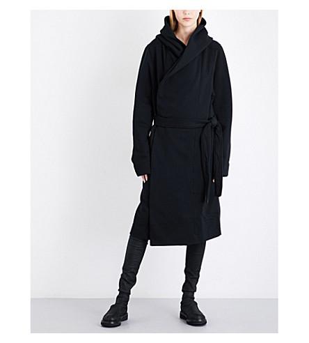 DRKSHDW Fleece-lined cotton-jersey robe (Black