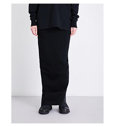 DRKSHDW Drawstring-waistband stretch-cotton skirt (Black