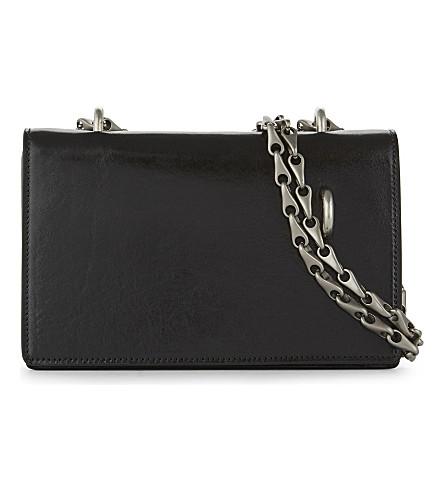 RICK OWENS Chain leather shoulder bag (Black