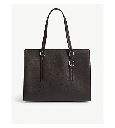 RICK OWENS Leather tote bag (Black