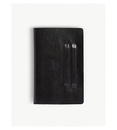 RICK OWENS Flat leather wallet (Black