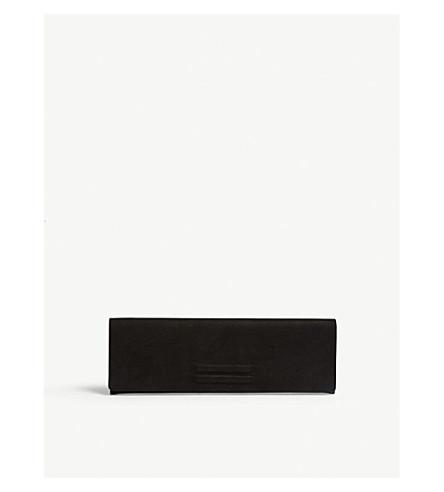 RICK OWENS Portfolio leather clutch (Black