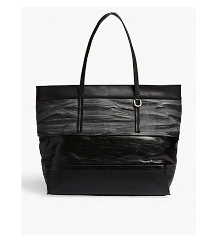 RICK OWENS Big Glitter leather shopper bag (Black