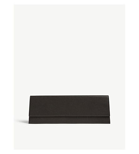RICK OWENS 大型皮革手拿包 (黑色