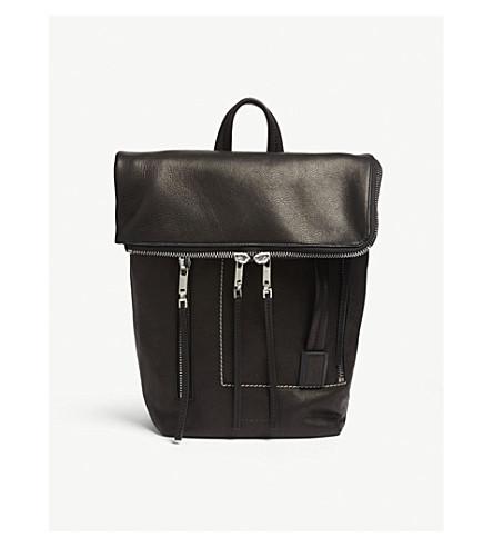 RICK OWENS Mini leather duffle bag (Black