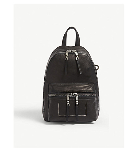 RICK OWENS P A 2 mini leather backpack (Black