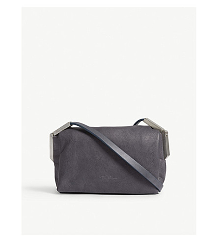 RICK OWENS Micro Adri leather shoulder bag (Iron