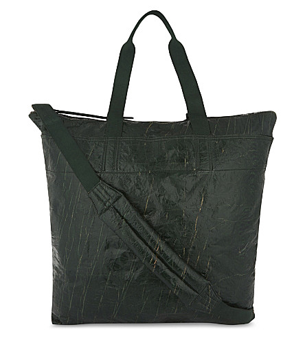 RICK OWENS Large vintage messenger bag (Forest