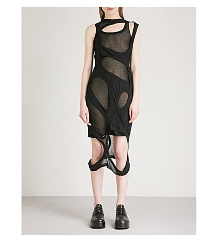 RICK OWENS Membrane cutout cotton dress (Black