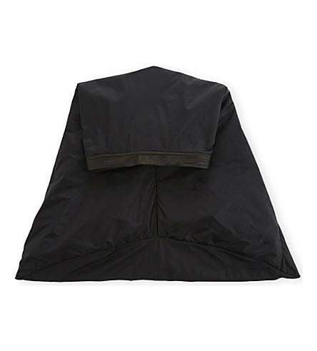 RICK OWENS Leather-trimmed long nun cap (Black