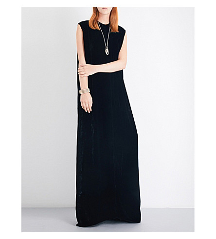 RICK OWENS Sleeveless velvet gown (Black