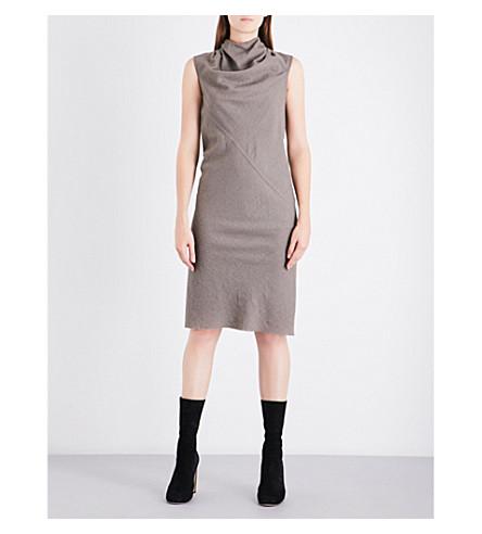 RICK OWENS Bonnie draped wool-blend dress (Dark+dust