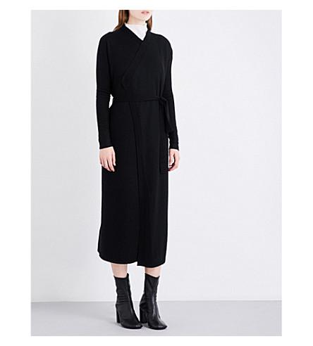 RICK OWENS Boiled cashmere wrap cardigan (Black