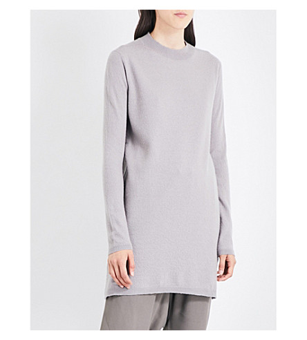 RICK OWENS Dropped-shoulder cashmere jumper (Fog