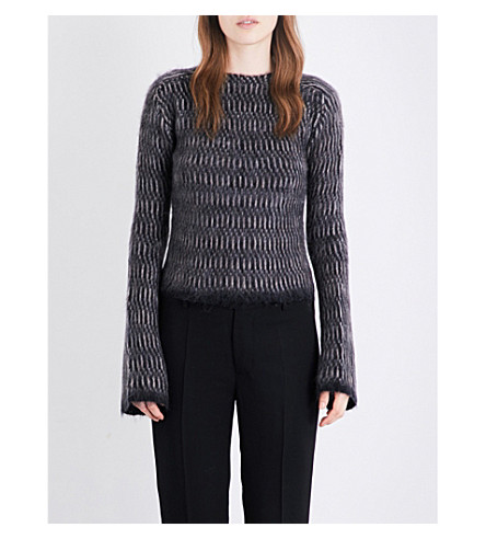 RICK OWENS Lupetto knitted jumper (Striped