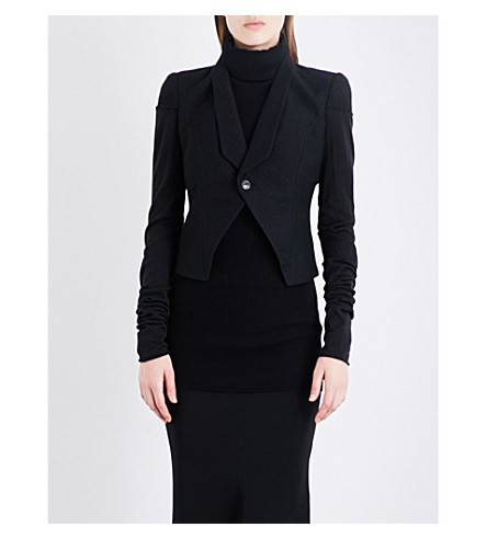 RICK OWENS Tusk alpaca and wool-blend blazer (Black
