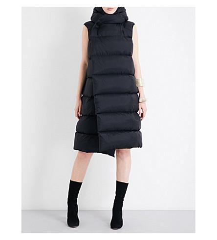 RICK OWENS Sleeveless shell puffer jacket (Black