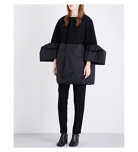 RICK OWENS Medusa oversized wool-blend coat (Black