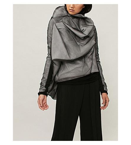 RICK OWENS Guimard 披真丝纱软壳面料夹克 (黑色