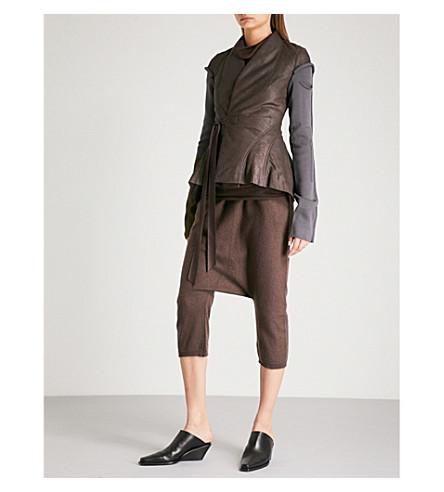 RICK OWENS 针织袖子皮夹克 (套版