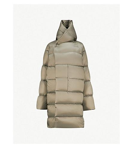RICK OWENS Longline shell puffer jacket (Dust